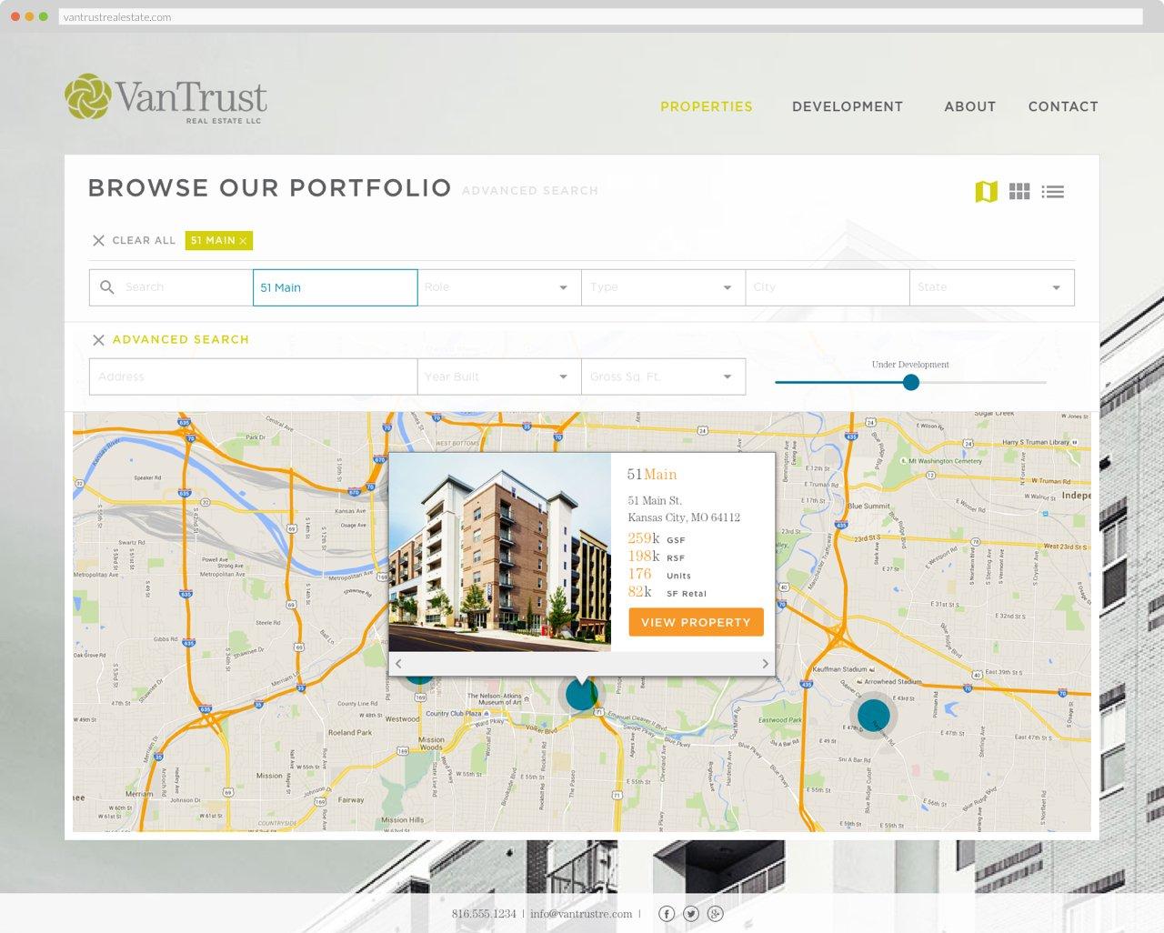 VanTrust Real Estate - Property Search, Map View