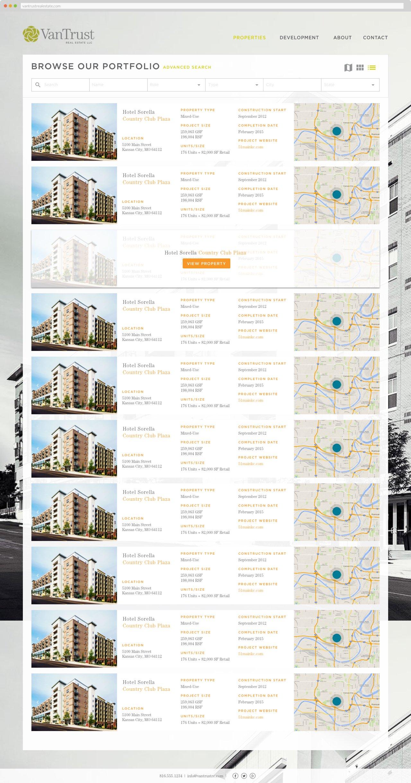 VanTrust Real Estate - Property Search, List View