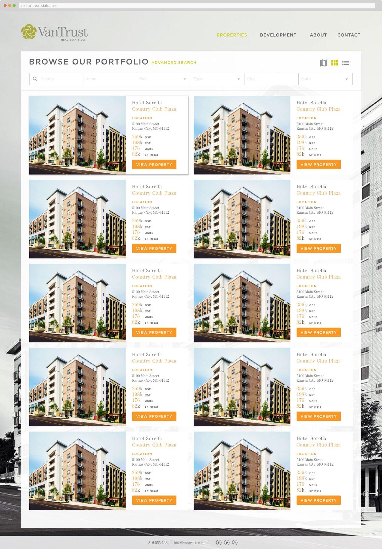 VanTrust Real Estate - Property Search, Grid View