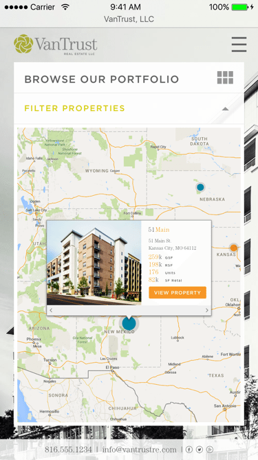 VanTrust Real Estate - Property Search, Map View, Mobile