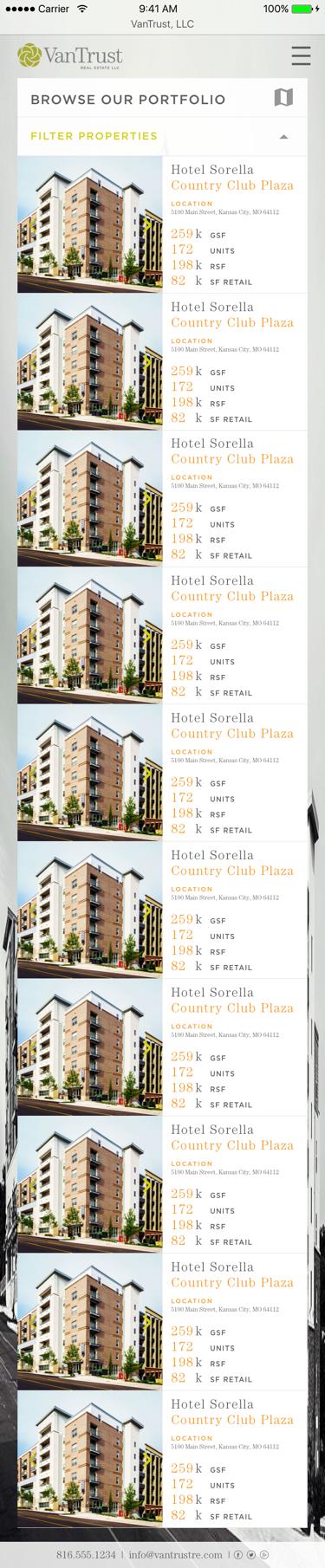 VanTrust Real Estate - Property Search, Grid View, Mobile