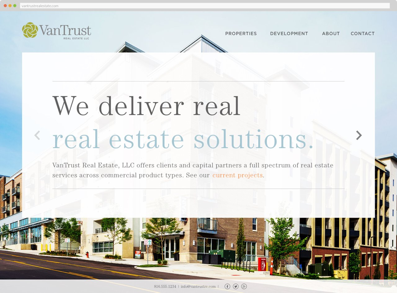 VanTrust Real Estate - Homepage, Hovered