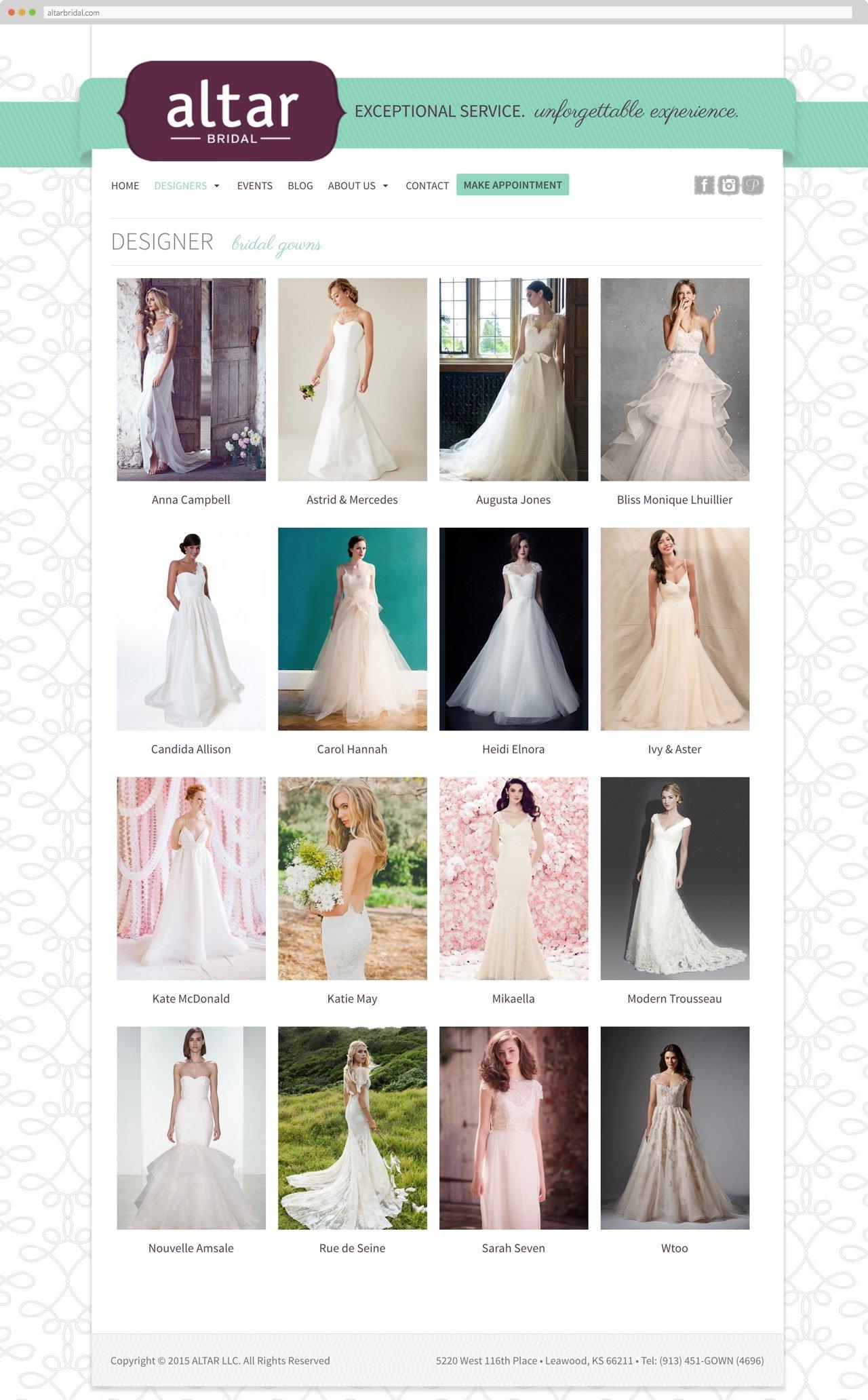 Altar Bridal, designers