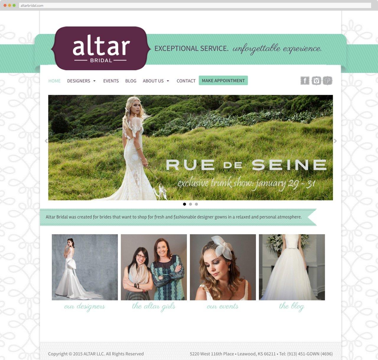 Altar Bridal homepage