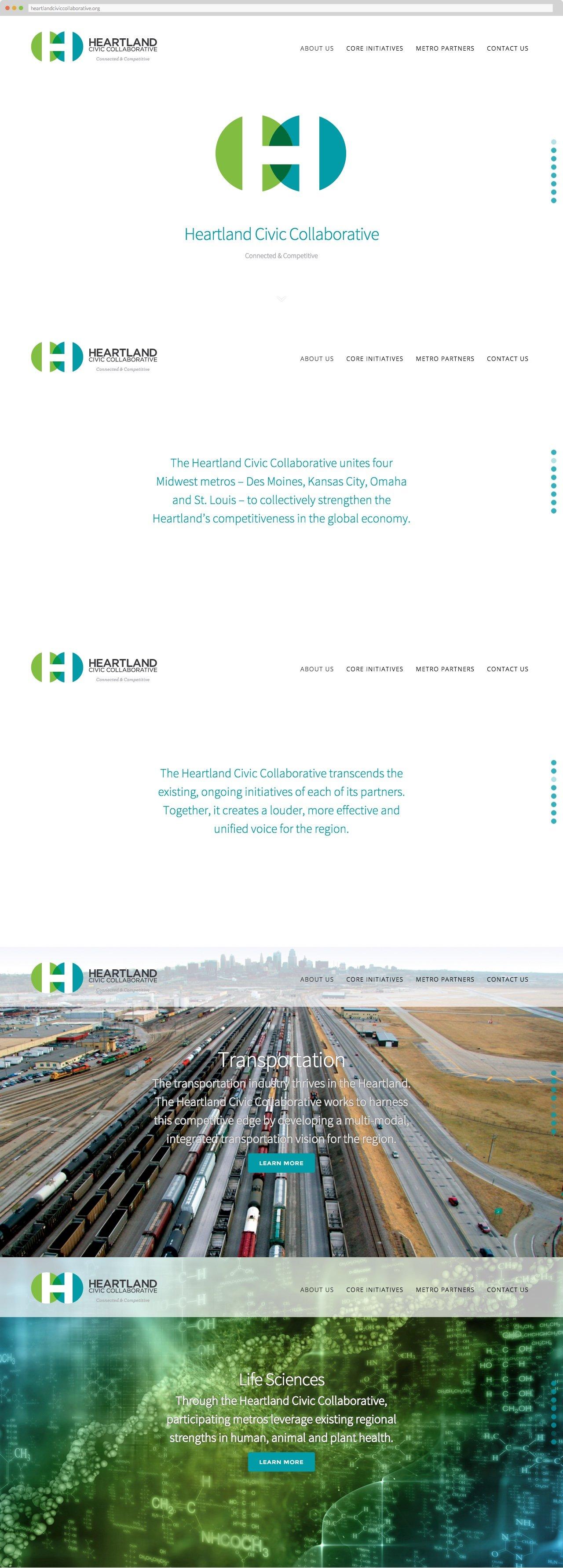 Heartland Civic Collaborative, homepage