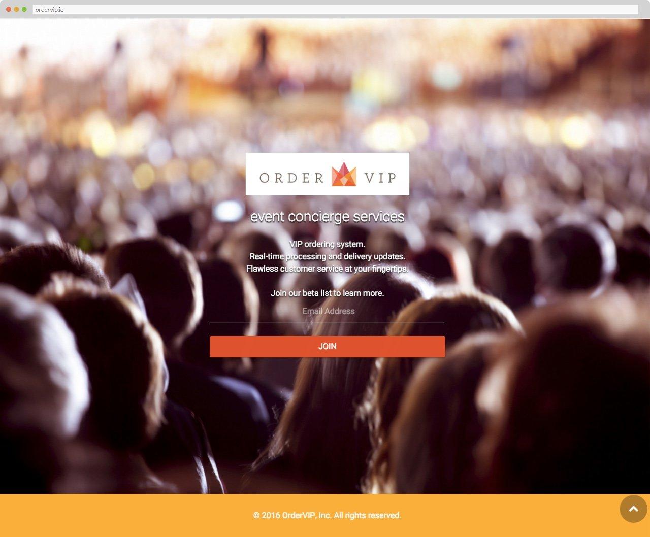 OrderVIP Homepage