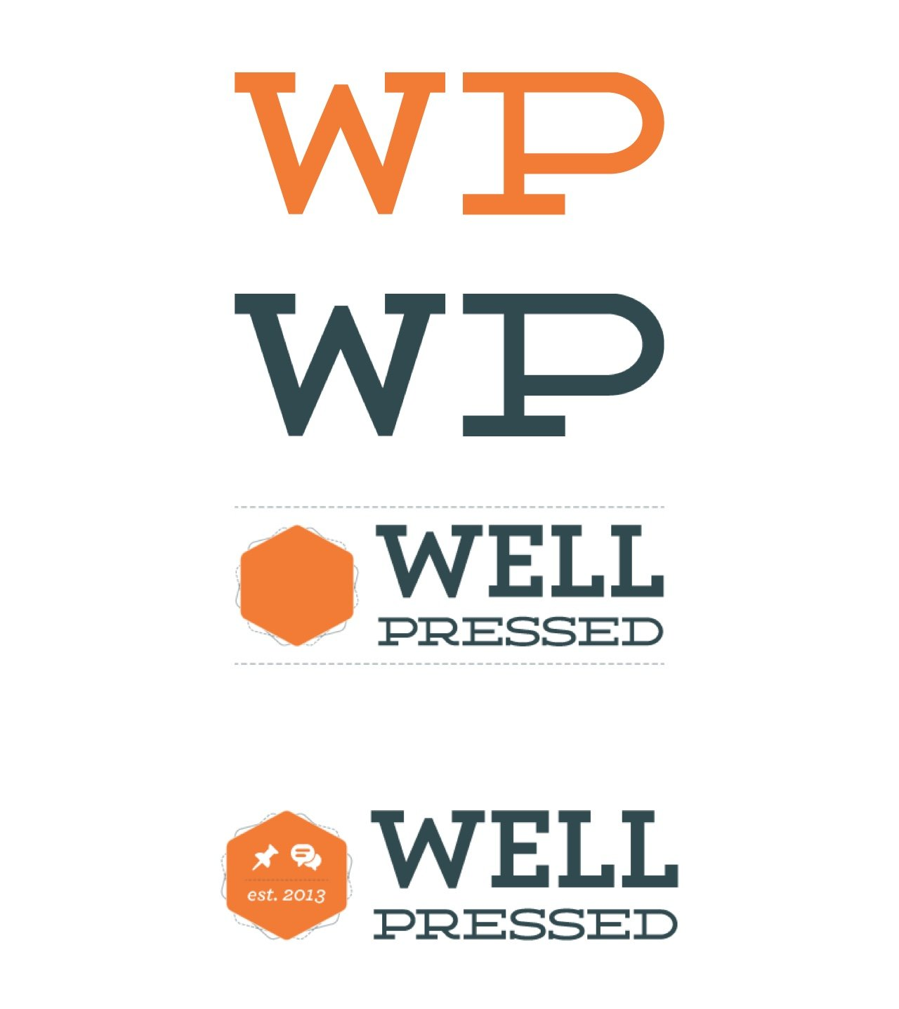 Well Pressed Logo Experiments