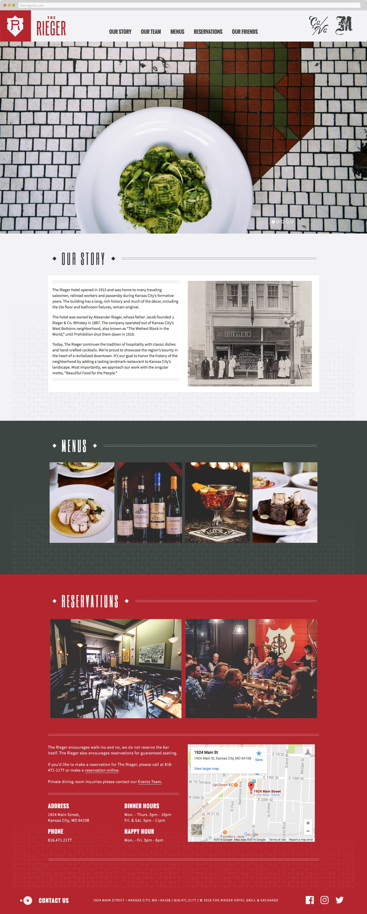 the rieger restaurant wordpress website by pixels the rieger homepage