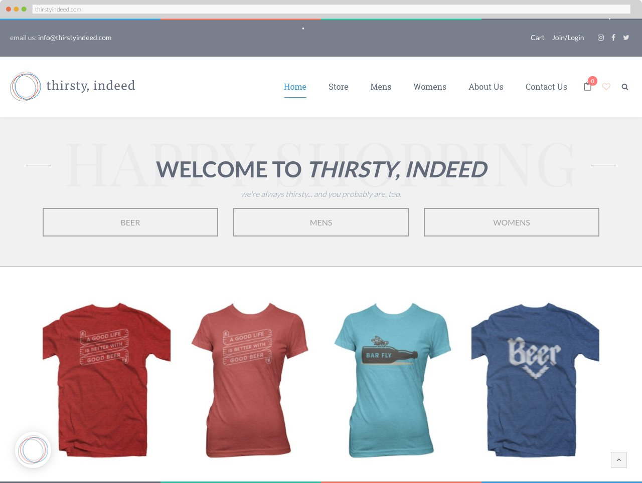 Thirsty, Indeed - Homepage