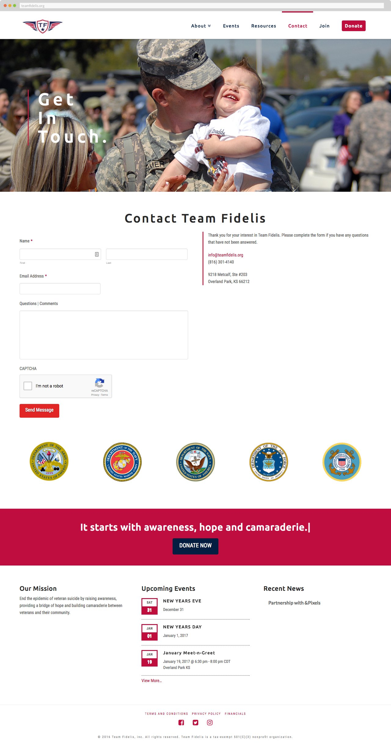 Team Fidelis - Contact Us
