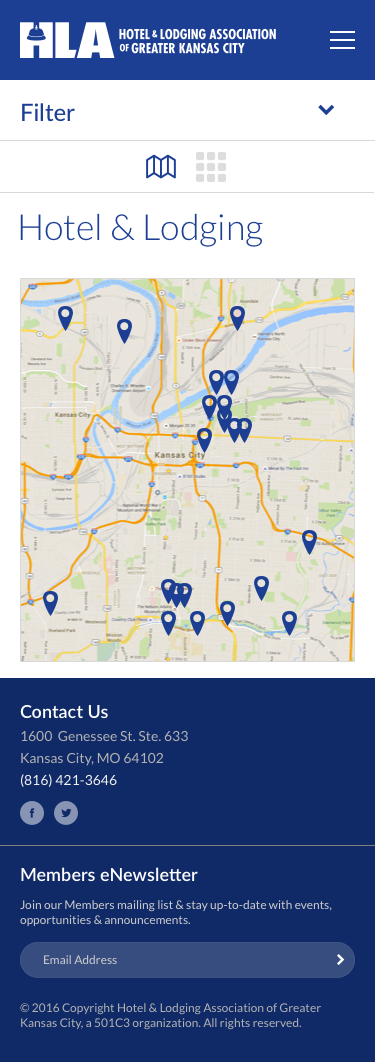 The Hotel & Lodging Association of Greater Kansas - Hotel & Lodging Search, Map View, Mobile