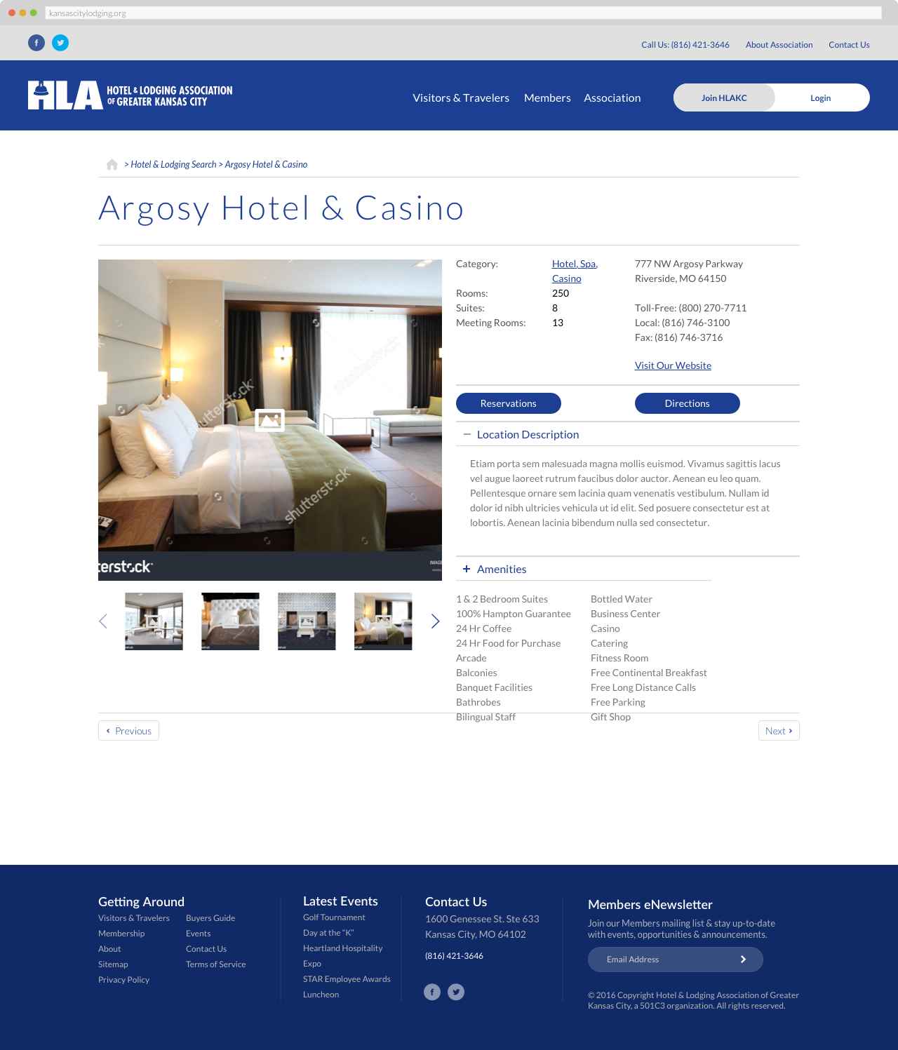 The Hotel & Lodging Association of Greater Kansas - Hotel Profile