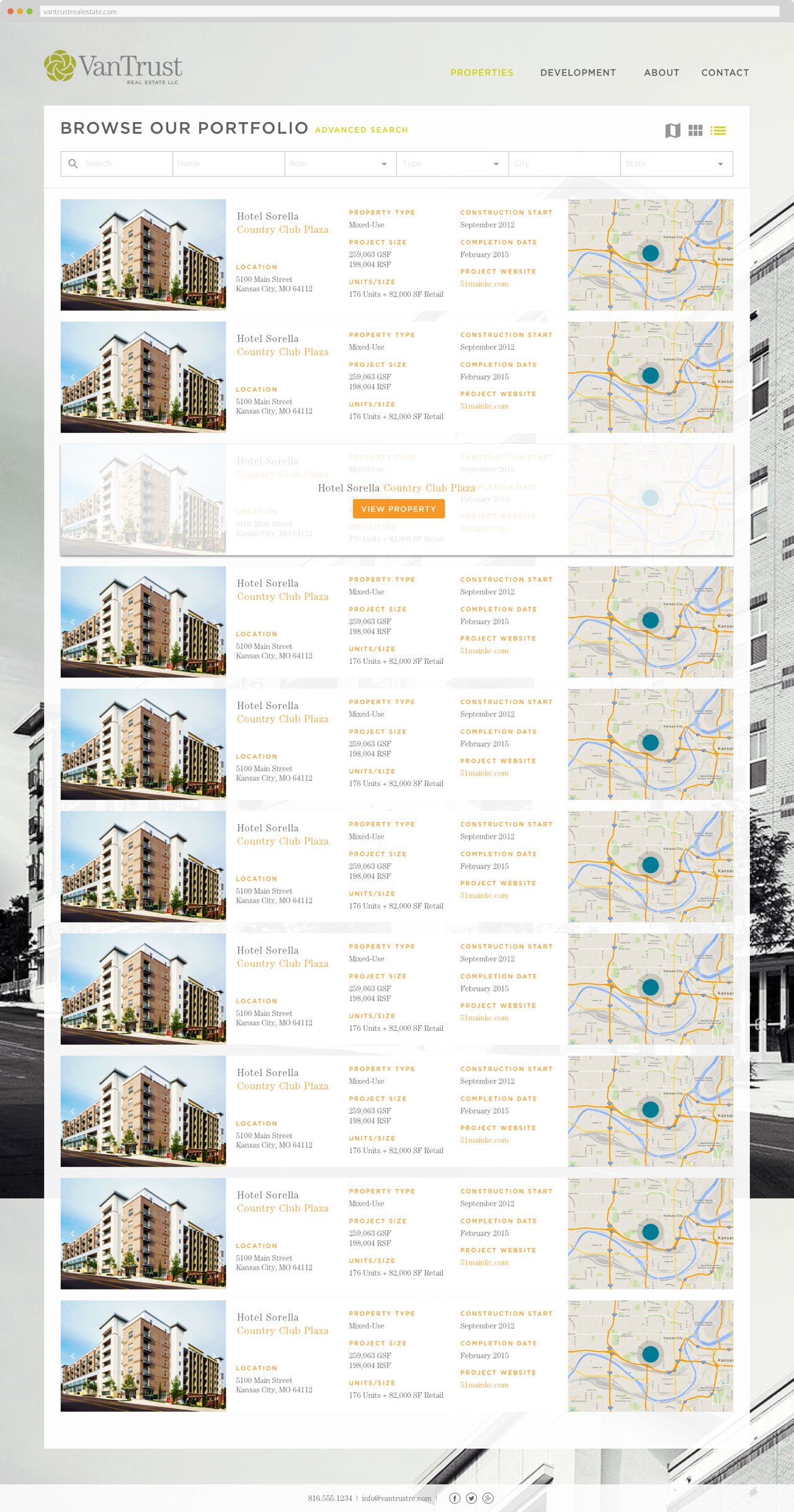 VanTrust Real Estate - Property Search, List View