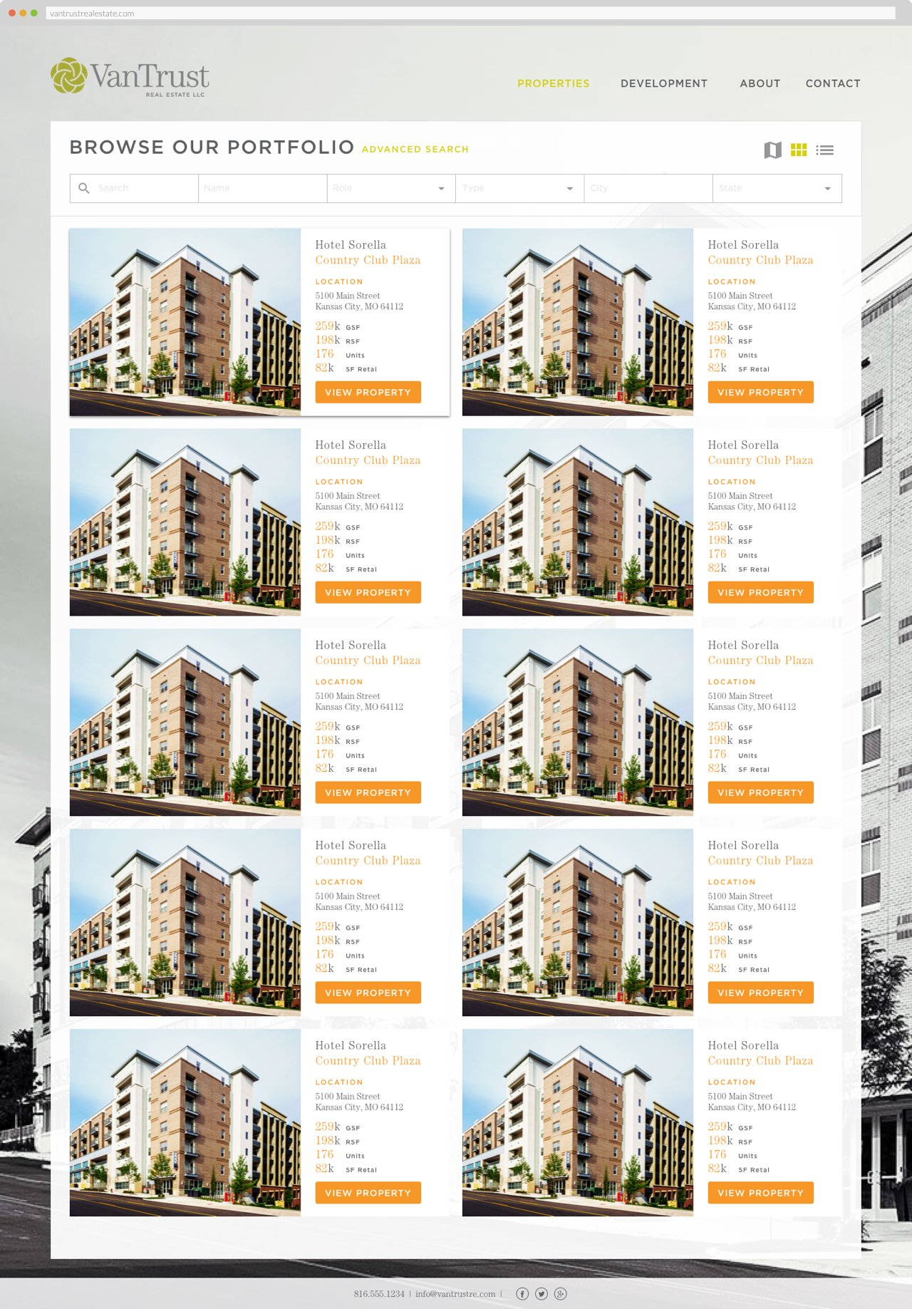 VanTrust Real Estate - Property Search, Grid View