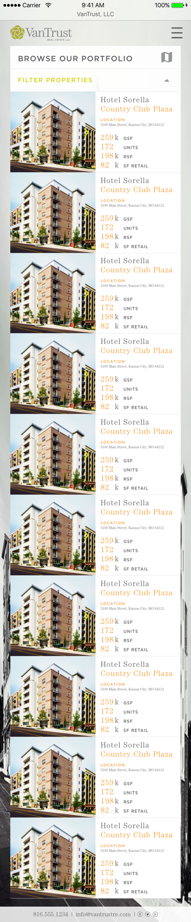 VanTrust Real Estate - Property Search, Grid View, Mobile