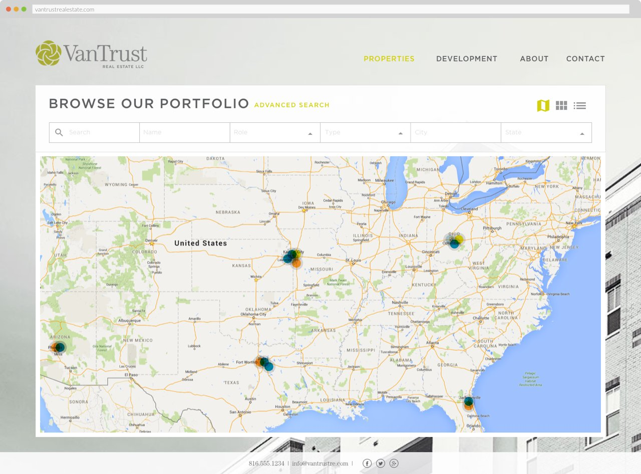 VanTrust Real Estate - Property Search, Map View